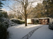 Bungalow in de winter