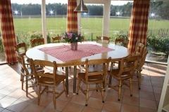 Eettafel met mooie uitzicht