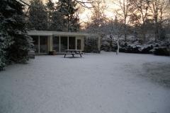 Bungalow in de sneeuw